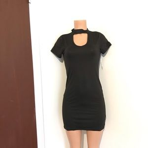 Black Choker Bodycon Dress